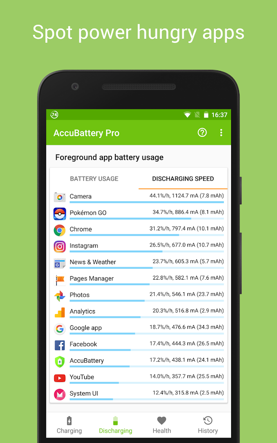Accu​Battery Screenshot 2