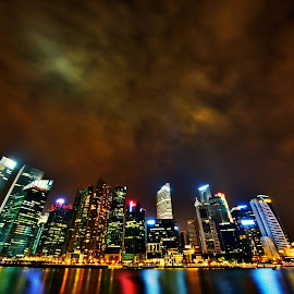 Epic Night Lights  by Matthiaz Zhang - Buildings & Architecture Office Buildings & Hotels