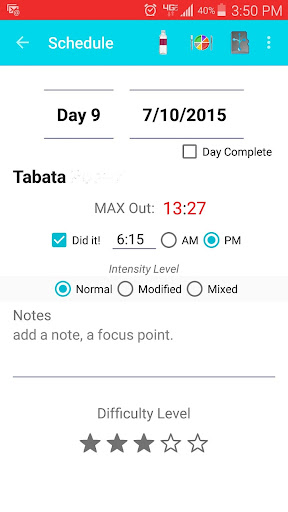 MyInsane MAX 30 Cardio Tracker - screenshot