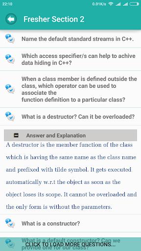 C++ CPP Interview Questions - screenshot