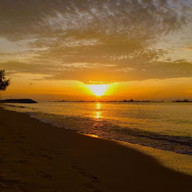 Sunrise at East  Coast Simgapore  by Janette Ho - Instagram & Mobile iPhone