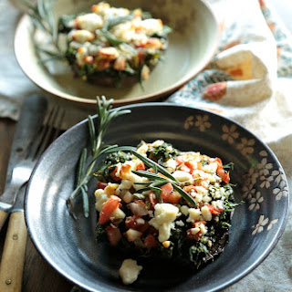 Grilled Spinach and Feta Stuffed Mushrooms