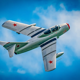 Mig 15 by Anthony P Morris - Transportation Airplanes ( rushan, rushian, 15, airoplane, plane, anthony morris, airoplanes, anthonypmorris, oxford, mig, mig15, farmoor, rushia, jet, planes, airshow )