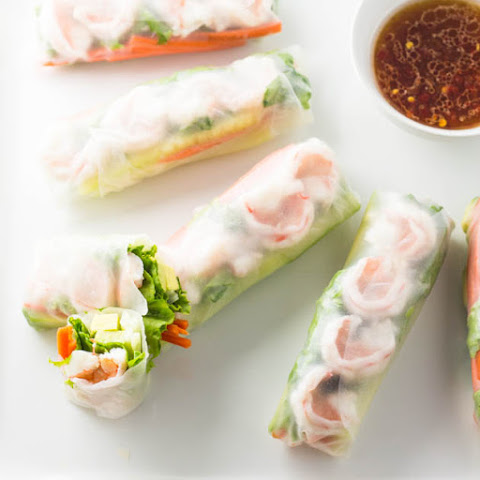 Shrimp Summer Rolls with Lime-Chili Dipping Sauce