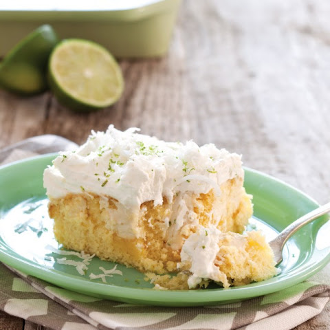 Key Lime Coconut Sheet Cake