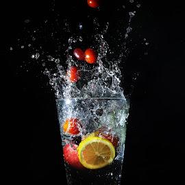 Fruit Salad by Mandy Hedley - Food & Drink Fruits & Vegetables ( water, orange, tomato, splash, grape, lime, lemon,  )