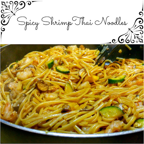 Spicy Shrimp Thai Noodles