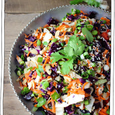 Crunchy Cabbage Salad with Orange-Tahini Dressing Recipe | Yummly