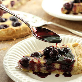 Cherry Pizza Crostata Dolce (Cherry Ricotta Pie) with Port Cherry Sauce