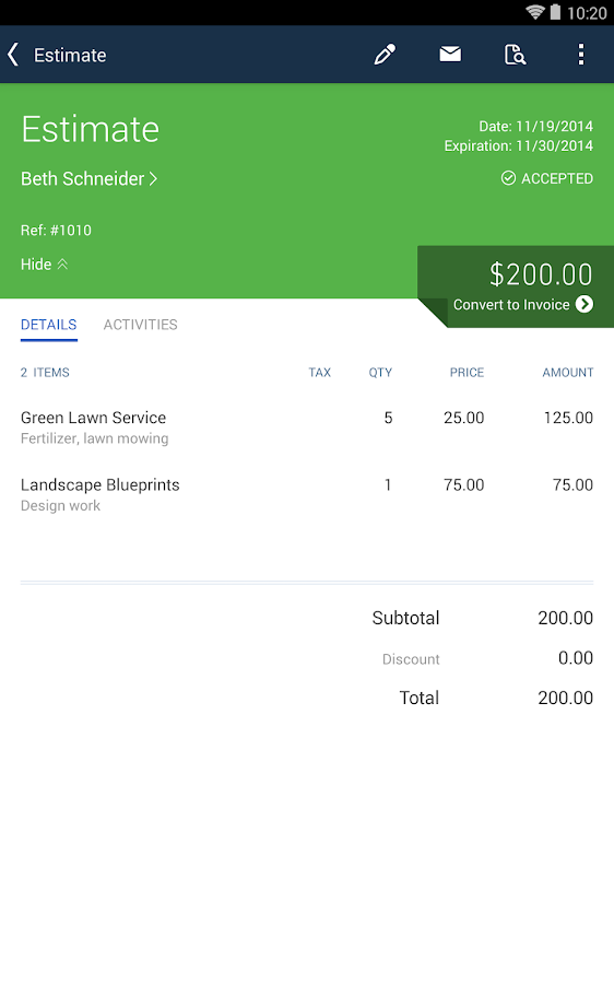 QuickBooks Accounting+Invoice Screenshot 18