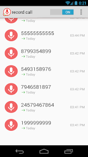 automatic phone record - screenshot