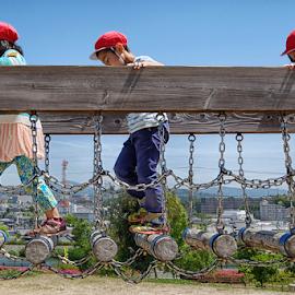 Kids on the Playground by Ferdinand Ludo - Babies & Children Children Candids ( osaka japan near nagasaka residence, mino osaka japan )