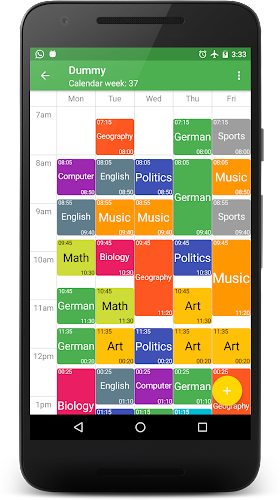 Schedule Deluxe Android App Screenshot