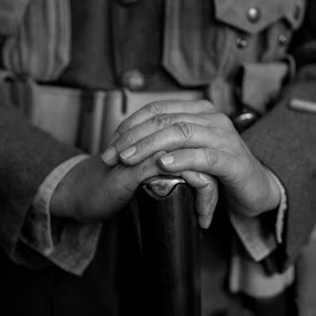 Rememberance by Russell Mander - People Body Parts ( ww1, hands, soldier, poppyday, rifle )