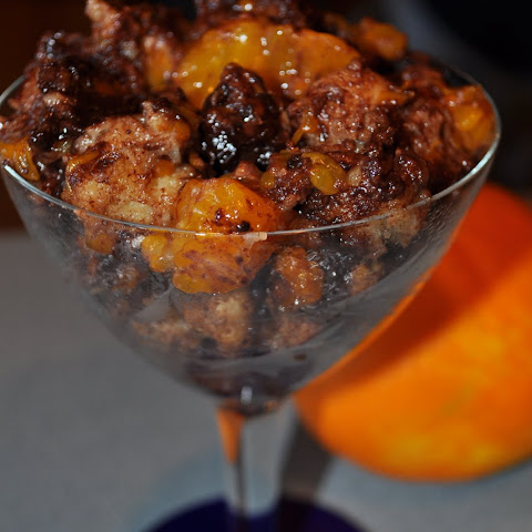 Slow Cooker Chocolate-Mandarin Bread Pudding