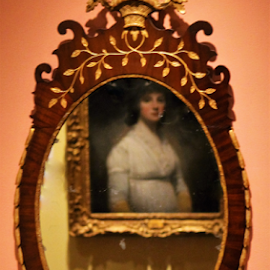 Lady in White by Leah Zisserson - Artistic Objects Antiques ( mirror, art, lady, reflections, museum, paintings,  )