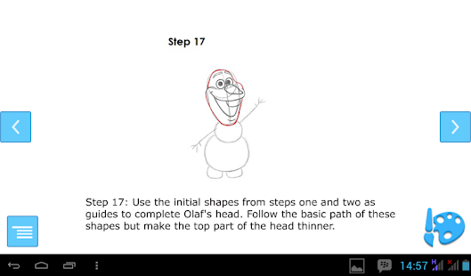 How to Draw Olaf - screenshot