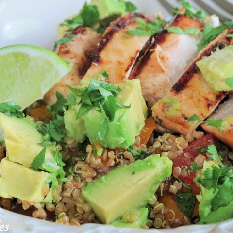 Grilled Chicken-Quinoa Fajita Bowls