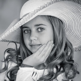 She's got it! by Pierre Vee - Black & White Portraits & People