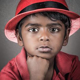 Red by Jp Mfa - Babies & Children Child Portraits ( canon 6d, kids portrait, fashion, urban portrait, urban fashion, unique outfit )