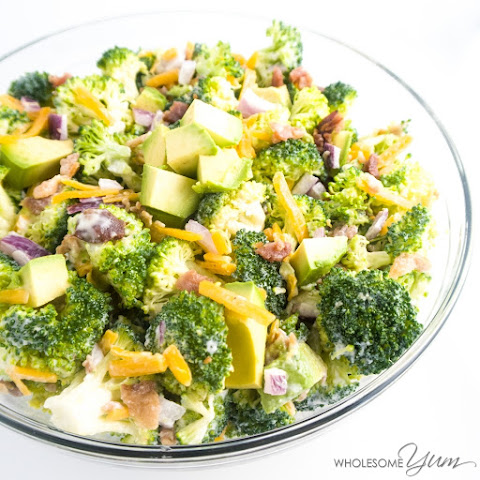 Bacon Avocado Broccoli Salad (Low Carb, Gluten-free)