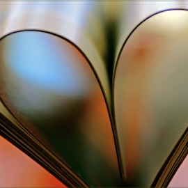 My heart will go on by Kittie Groenewald - Abstract Patterns ( abstract art, book, lines,  )