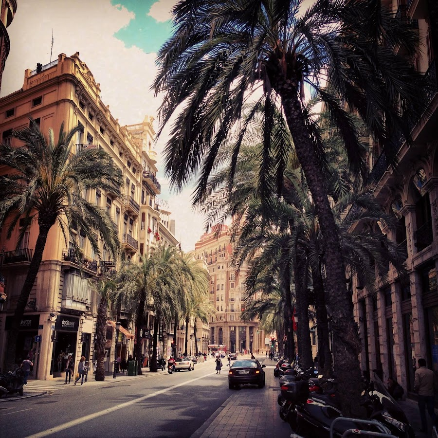 Viva Valencia! by Claudia de Graaf - City,  Street & Park  Street Scenes