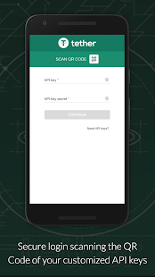 Tether.to screenshot for Android