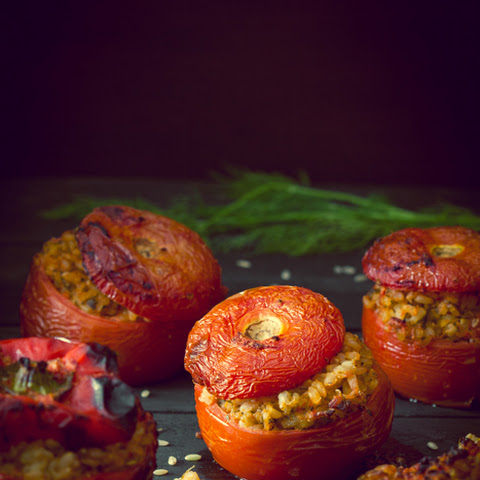 Gemista - Greek-Style Stuffed Tomatoes, Eggplants and Bell Peppers