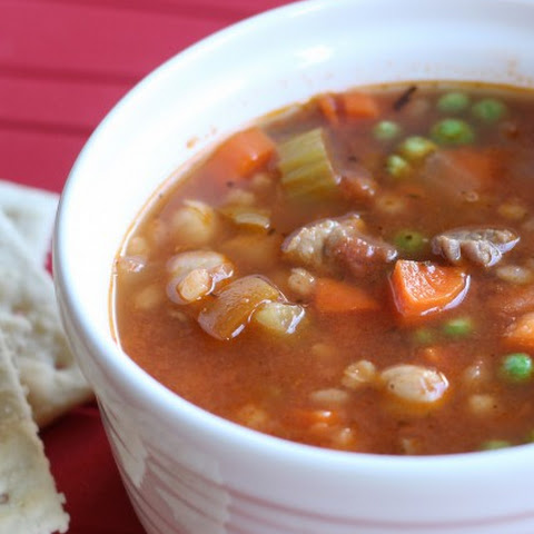Vegetable, Beef, & Barley Soup