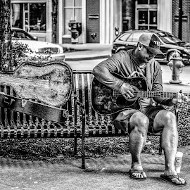 by Lisa Frisby - City,  Street & Park  Markets & Shops ( music, park, knoxville, park life, city life, guitar, musician, city )