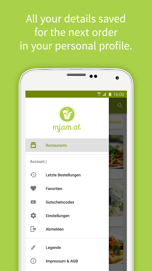 Mjam.at - Order food online Screenshot 3