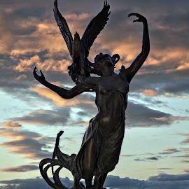 Goddess of the waterways. by Carolyn Kernan - City,  Street & Park  City Parks (  )