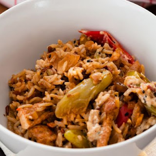 Spicy Chicken and Rice With Sautéed Vegetables