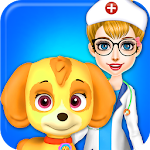 Fluffy Pets Vet Doctor Care Icon