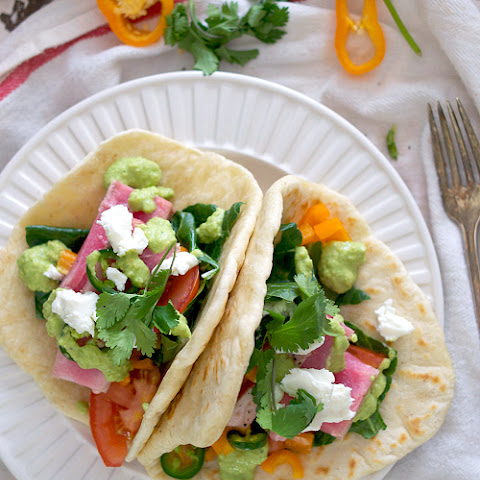 Ahi Tuna Tacos with Homemade Tortillas