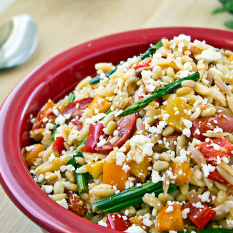Roasted Vegetable Orzo Pasta Salad