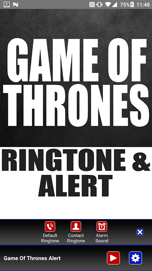 Game Of Thrones Ringtone und Alert android apps download