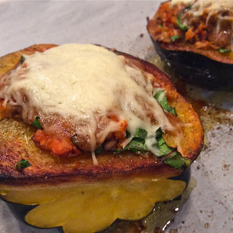 Smoked Salmon Stuffed Acorn Squash