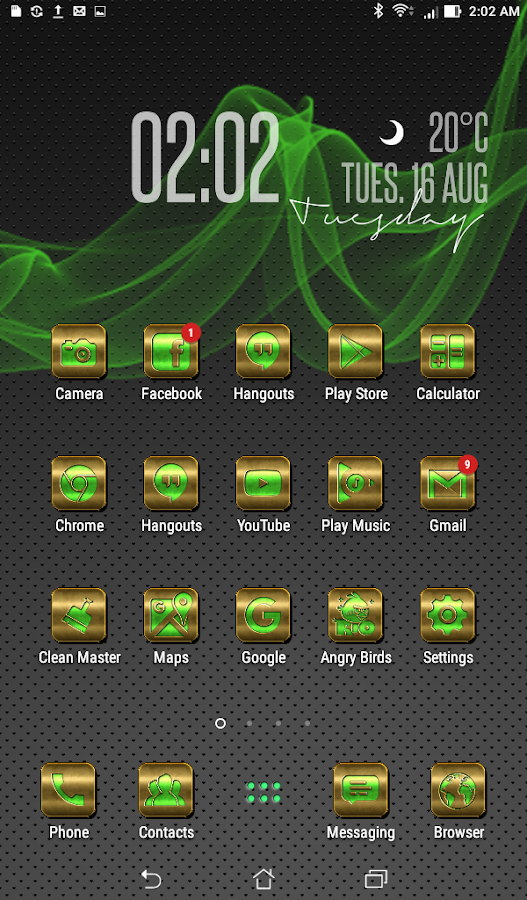 Gold Green Icon Pack Screenshot 0