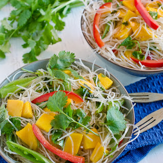Thai Noodle Salad with Mangos and Mint {vegan and gluten free}