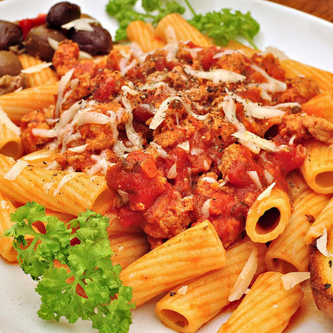 Italian Rigatoni with Cheese and Sausage