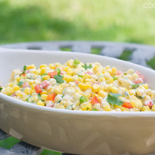 Creamy Sweet and Spicy Corn Salad
