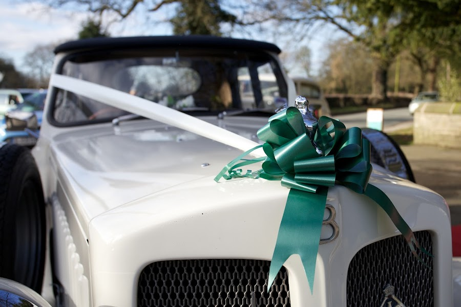 The Wedding Car by John Puddy - Wedding Other ( car, hood ornament, wedding, wedding car, ribbon )