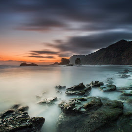 Papuma Beach by Van Condix - Landscapes Sunsets & Sunrises ( sunset, long exposure, seascape, sunrise, beach )