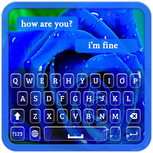 Download Blue Rose Keyboard Theme for Windows Phone