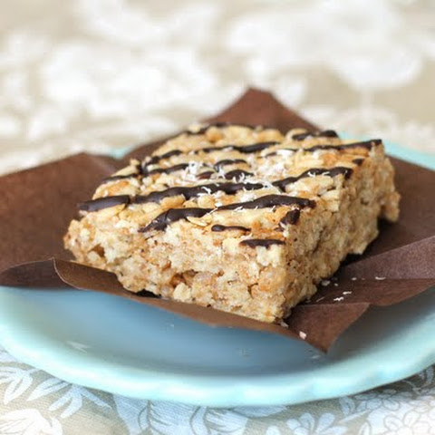 Healthy Marshmallowy Coconut Krispy Treats [gluten free]