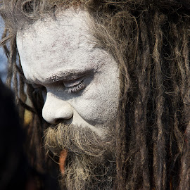 Naga Sadhu in Mahakumbh by Praveen Gupta - People Portraits of Men (  )