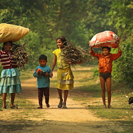 Childhood by Biplab Bhattacharjee - Babies & Children Children Candids ( nature, village, candid, childhood, street photography )