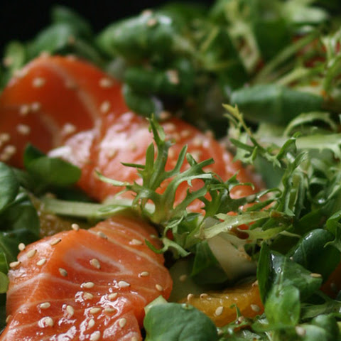 Sashimi Salad with Soy and Orange